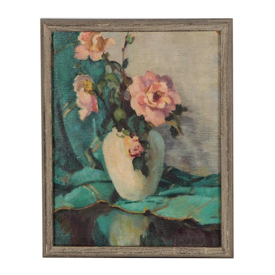 Muriel Montgomery Floral Still Life Oil Painting