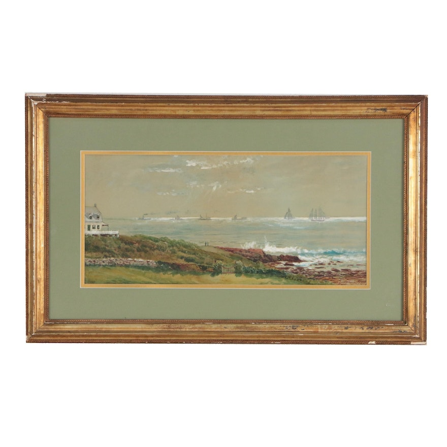Coastal Watercolor Painting, 1907