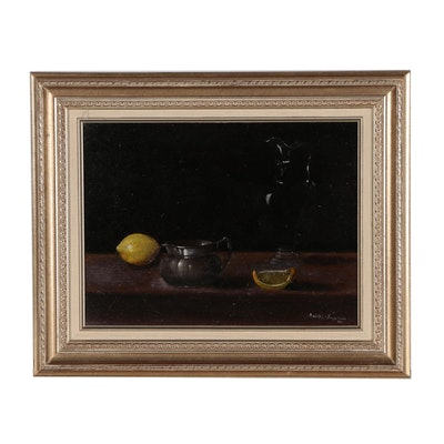 Kathy Lazarus Still Life Oil Painting, 1960