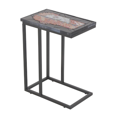 Elaine Kohler Anatomical Mosaic Tile Table with Skeleton and Musculature