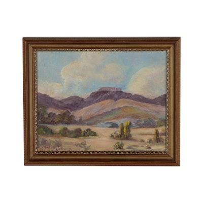 Mattie Jarvis Southwestern Landscape Oil Painting
