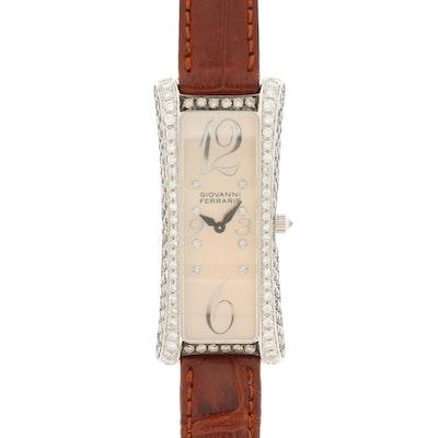 Giovanni Ferraris 18K White Gold 2.84 CTW Diamond Quartz Wristwatch