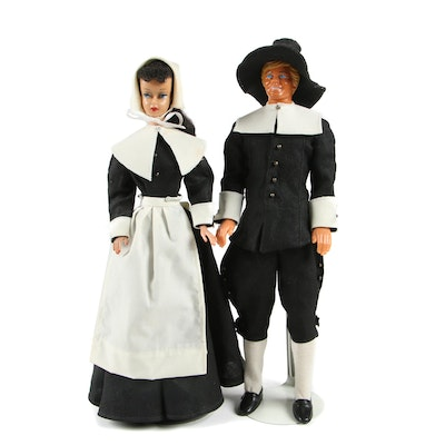 Vintage Barbie Doll and Ken Doll with Pilgrim Clothing