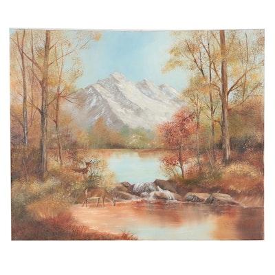 J. Harbison Oil Landscape Painting