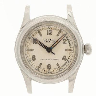 Vintage Rolex Oyster Rayleigh Stem Wind Wristwatch