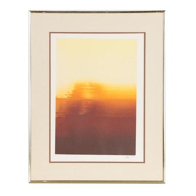 Gyi Abstract Monoprint, 1977