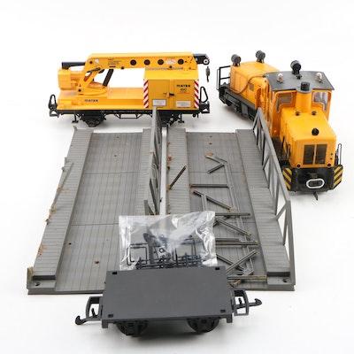LGB G Gauge Trains, Car and Bridge with Box