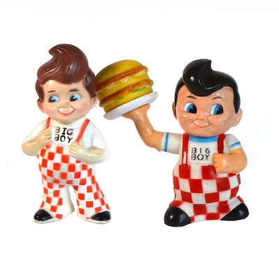 Big Boy Plastic Advertising Dolls