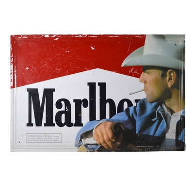 Marlboro Advertising Sign, Vintage