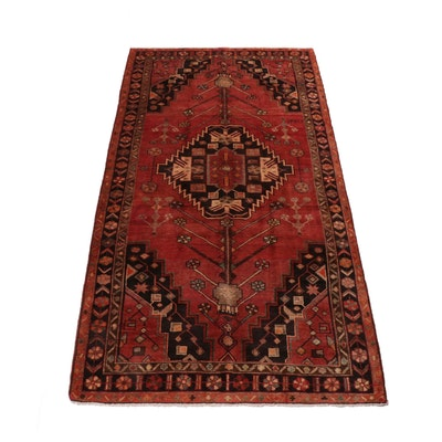 5'4 x 10'7 Hand-Knotted Northwest Persian Wool Rug, 1960s