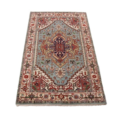 5' x 8'6 Hand-Knotted Indo-Persian Heriz Serapi Rug