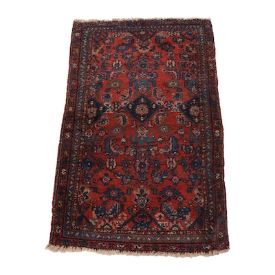 2'9 x 4'7 Hand-Knotted Persian Zanjan Wool Rug, 1920s