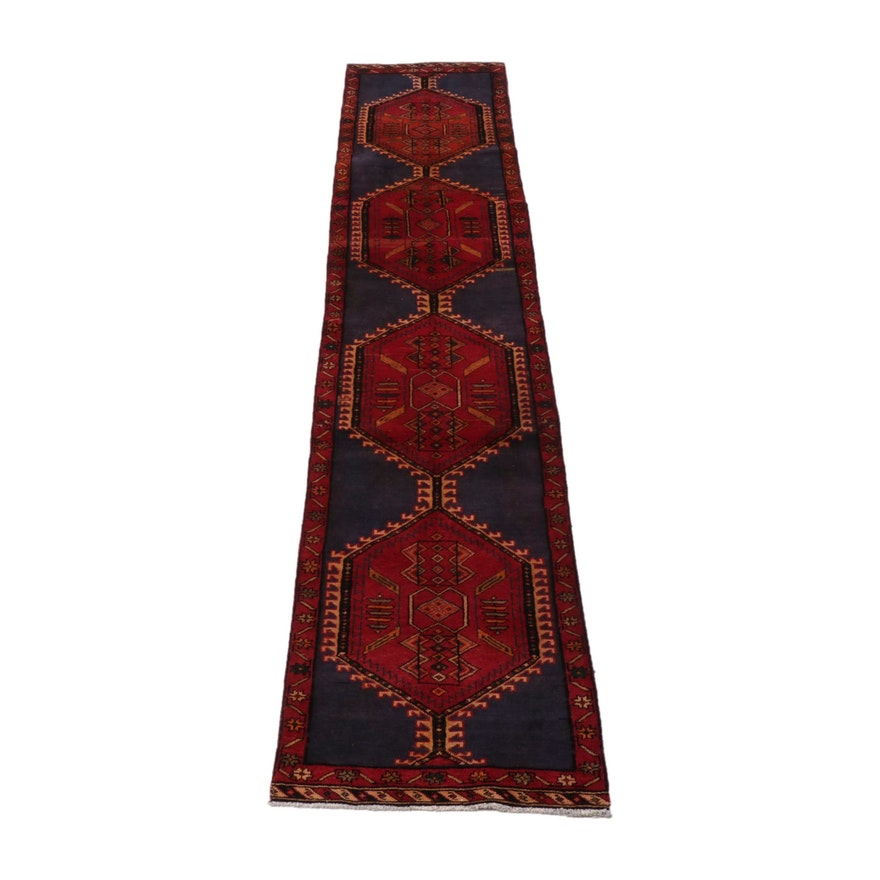 2'7 x 12'10 Hand-Knotted Northwest Persian Wool Runner, 1960s