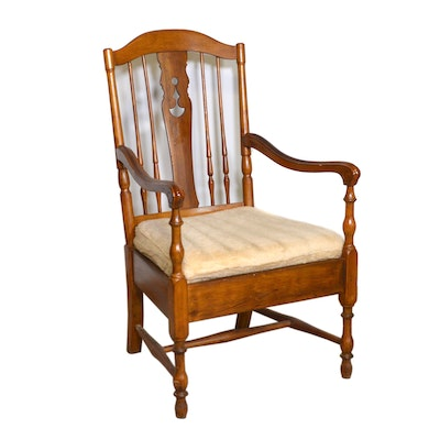 American Colonial Style Cherry Armchair, Vintage