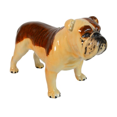 Beswick English Bulldog Porcelain Figurine, Vintage