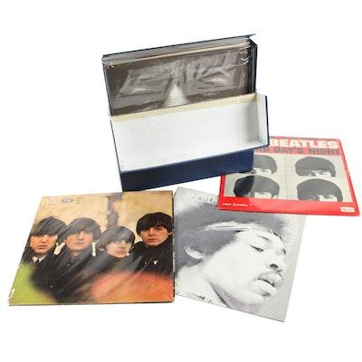 Jimi Hendrix and The Beatles Vinyl Records