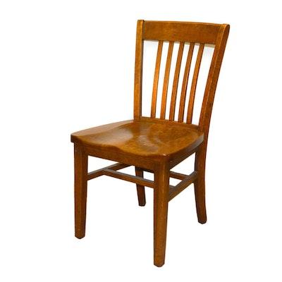 Murphy Oak Library Chair, Vintage