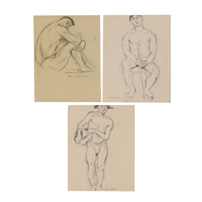 Edgar Yaeger Figural Graphite Drawings
