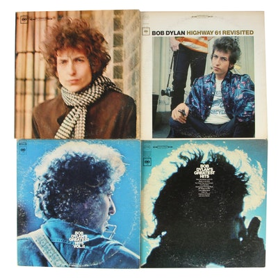 "Bob Dylan Record Albums Including ""Blonde on Blonde"" and ""Highway 61 Revisited"""