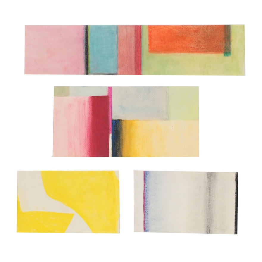 Beth Hertz Abstract Pastel and Wash Drawings