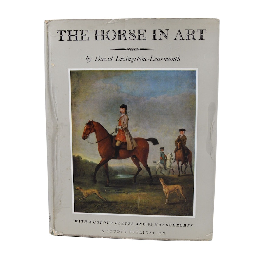 """First Edition """"The Horse in Art"""" by David Livingstone-Learmonth, 1958"""