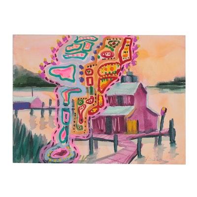 Kathleen Zimbicki Gouache Painting