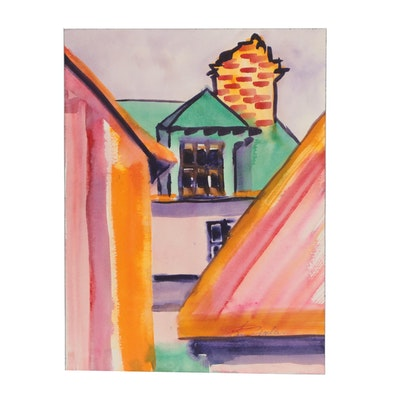 Kathleen Zimbicki Architectural Watercolor Painting