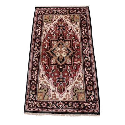 2'10 x 5'4 Hand-Knotted Indo-Persian Heriz Rug