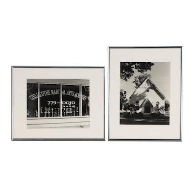 "John B. Chewning Silver Gelatin Photographs ""Concord Church"" and ""Dojo"""