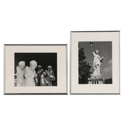John B. Chewning Silver Gelatin Photographs of Sculptures