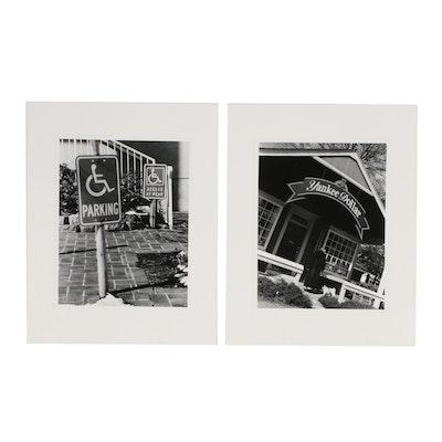 "John B. Chewning Silver Gelatin Photographs ""Yankee Dollar"" and ""Parking"""