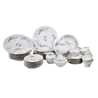 Royal Kent Floral China Dinnerware, Service for Eight, 45 Pieces