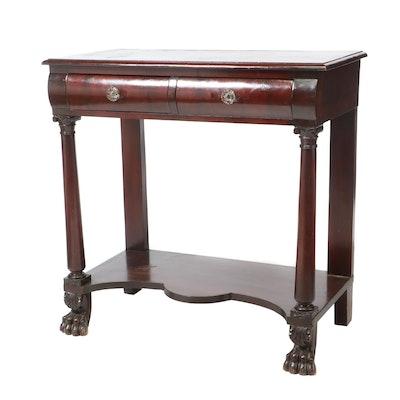 Empire Revival Mahogany Pier Table / Server, Late 19th Century