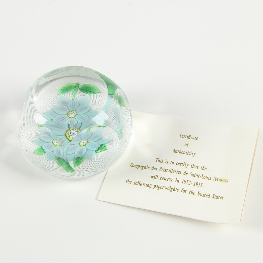 Saint Louis Crystal Paperweight, 1970s