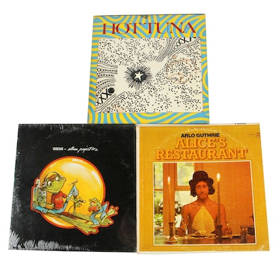 Record Albums Including Arlo Guthrie and Hot Tuna, 1970s