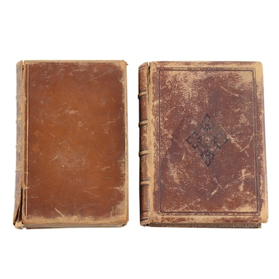 "Leather Bound ""Lucile"" by O. Meredith and ""The Poetical Works of Tennyson"""
