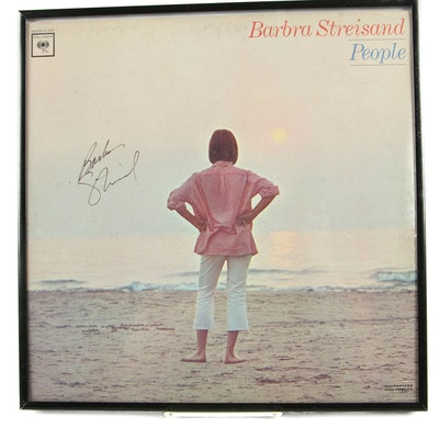 "Barbra Streisand Autographed ""People"" Record Album Cover with Visual COA"