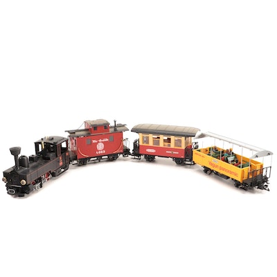 LGB G Gauge Cars and Engine with Boxes