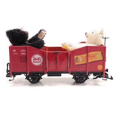 LGB G Gauge Steiff Bears Railroad Car in Box