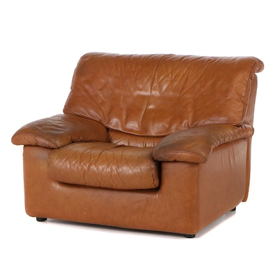 Roche Bobois Leather Lounge Chair