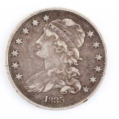 1835 Capped Bust Silver Quarter