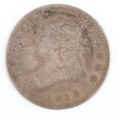 1818 Capped Bust Silver Quarter