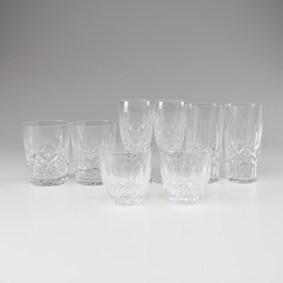 "Waterford ""Lismore"" Crystal Double Old Fashioned Glasses and More Waterford"