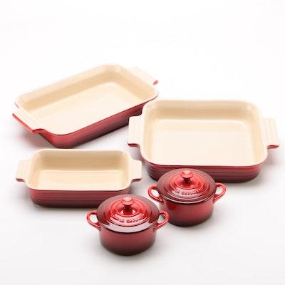 La Creuset Enameled Stoneware Casserole and Mini Cocotte Dishes