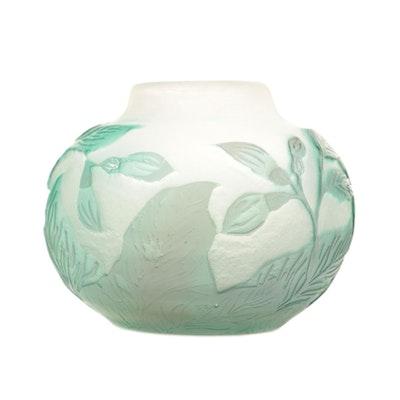 Émile Gallé Art Nouveau Cameo Glass Bud Vase
