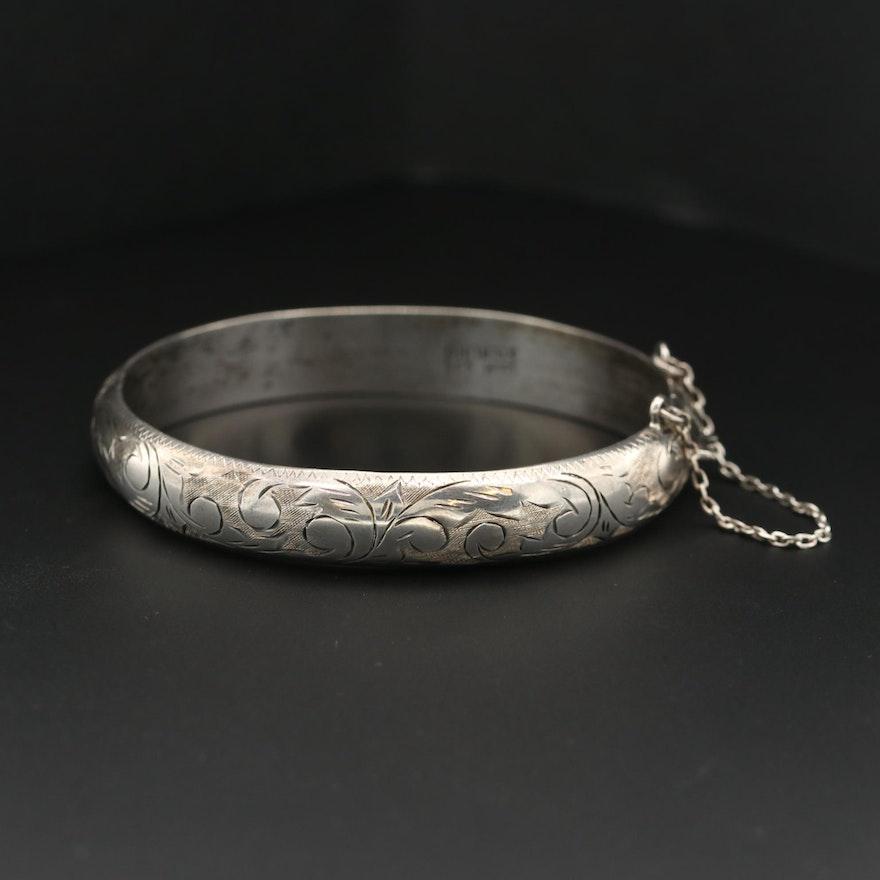 Sterling Silver Etched Bracelet