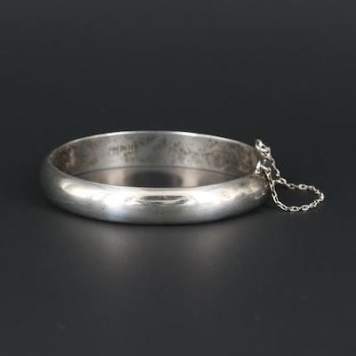 Sterling Silver Hinged Bracelet