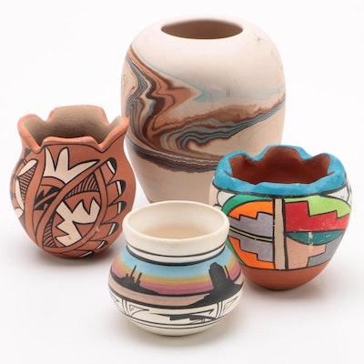 Southwestern Souvenier Pottery Vases