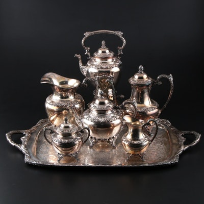 "Rogers Bros. ""Heritage"" Silver Plate Tea Set"