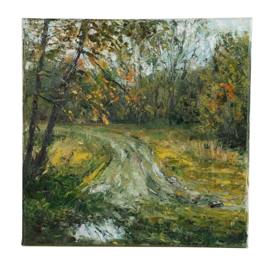 Garncarek Aleksander Landscape Oil Painting of Country Road